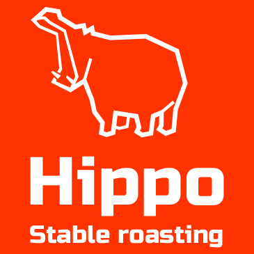 Hippo Logo. Stable roasted coffee by online roasting system